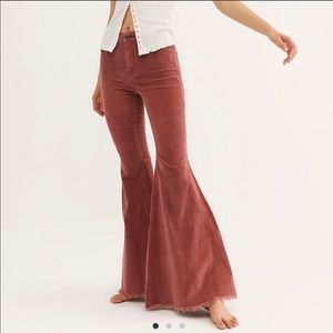 Free People Just Float On Corduroy Flare Jeans
